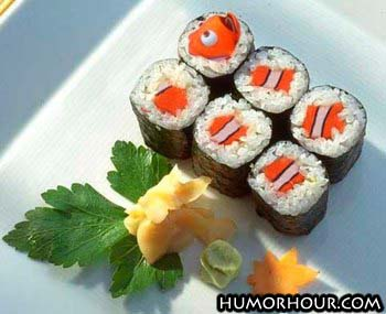 Is that sushi Nemo?