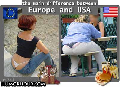 The main difference between Europe and America