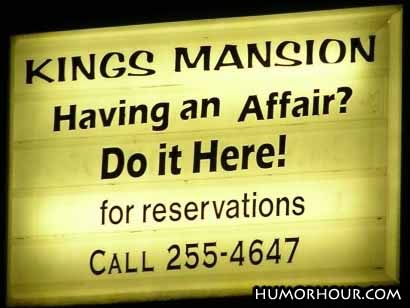 Having an affair?