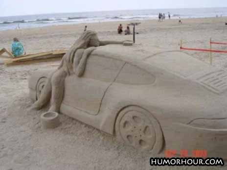 Car made of sand