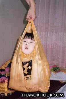 Kid in a bag