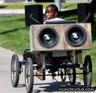Big speakers on small bike