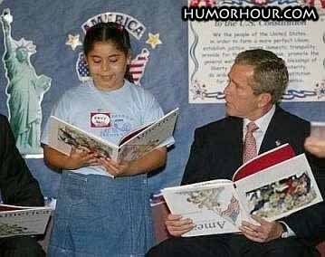 The way Bush read books
