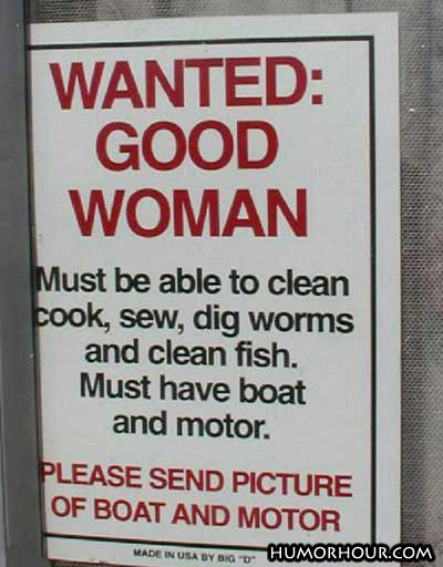 Wanted: Good Woman