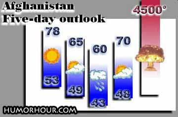 Afghanistan 5-day outlook